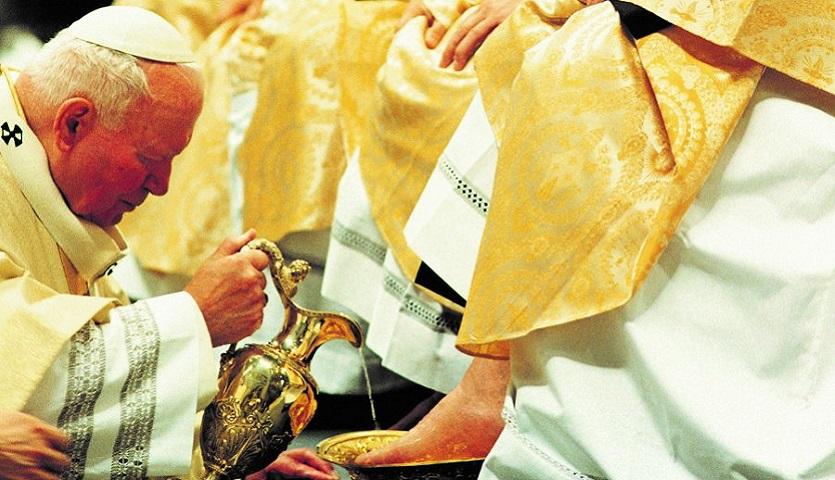 Św. Jan Paweł II na Wielki Czwartek