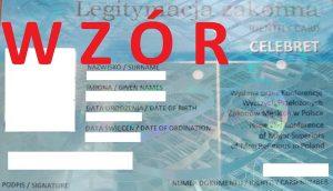 Druk legitymacji zakonnych