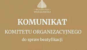 Read more about the article Przygotowania do beatyfikacji w Warszawie
