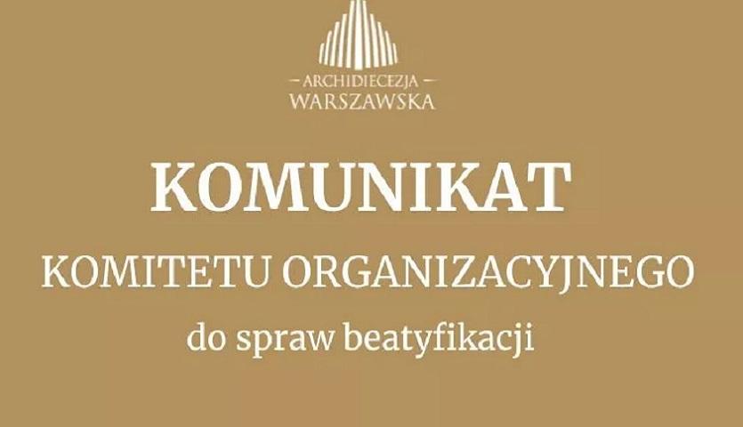 You are currently viewing Przygotowania do beatyfikacji w Warszawie