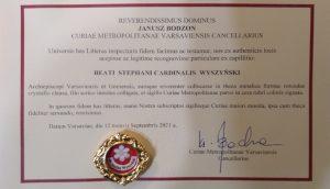 Read more about the article Po relikwie bł. kard. Stefana Wyszyńskiego