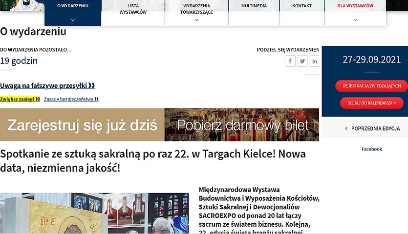 Read more about the article SACROEXPO: w drodze do Kielc